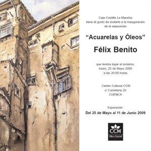 """Exposición del 25 de mayo al 11 de junio """"Acuarelas y Óleos"""" de Felix Benito"""